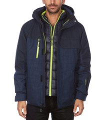 avalanche men's hooded 3 in 1 system jacket