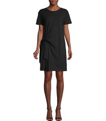 vince women's side-tie cotton dress - black - size xs