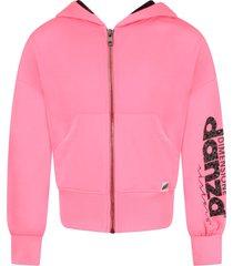 dimensione danza neon fuchsia girl sweatshirt with logo