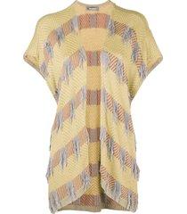 issey miyake pre-owned 80's sleeveless cardigan - yellow