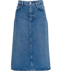 balenciaga long denim skirt
