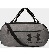 maletín gris-negro-rojo under armour roland duffle md