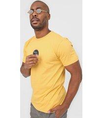 camiseta hang loose loose vinil amarela - amarelo - masculino - dafiti