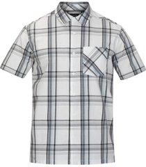 hurley men's compton stretch plaid shirt