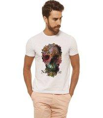 camiseta joss - caveira rosas - masculina