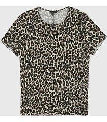 camiseta beige-negro-café vero moda