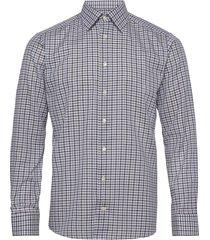 blue & navy overcheck flannel shirt skjorta business grön eton
