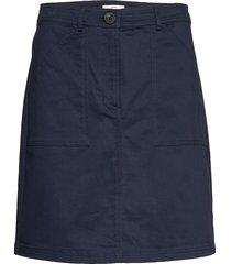 skirts woven kort kjol blå esprit casual