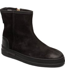 maria mid zip boot shoes boots ankle boots ankle boots flat heel svart gant