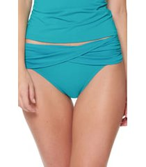 women's bleu by rod beattie sarong hipster bikini bottoms