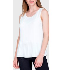 blusa ash top plisado  beige - calce regular