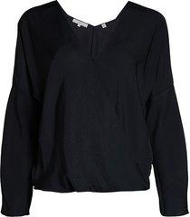 vince women's crossover blouse - chiffon - size xs