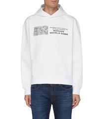 record graphic print organic cotton hoodie