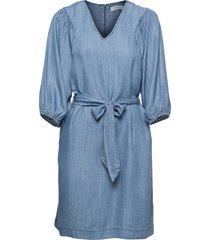 bylana puff sl dress - kort klänning blå b.young