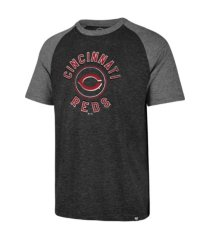 '47 brand cincinnati reds men's tri-blend raglan t-shirt