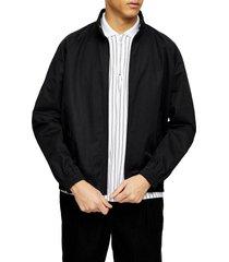 men's topman harrington stand collar jacket