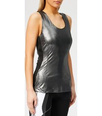 no ka'oi women's mahina mano sleeveless top - black - l - black