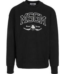 msgm varsity logo sweatshirt
