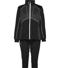 murto w+ xct softshell set outerwear sport jackets zwart halti