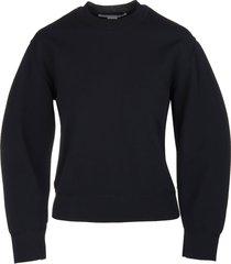 stella mccartney woman black compact knit sweater