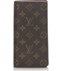 louis vuitton monogram brazza wallet brown sz: