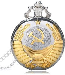 reloj bolsillo cuarzo cadena analogico union sovietica