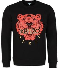 kenzo tiger print crew-neck sweatshirt
