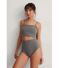 na-kd lingerie pyjamasbyxa med hög midja - grey