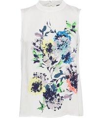 blouses woven blus ärmlös vit esprit collection