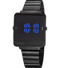 relógio digital seculus masculino - 20871gpsvpa3 preto