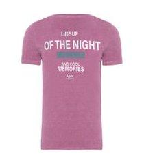 camiseta masculina line up moscow - lilás