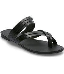 tia shoes summer shoes flat sandals svart vagabond