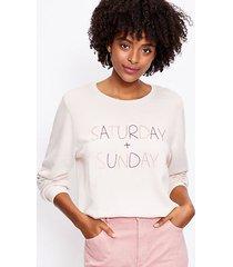 loft saturday & sunday sweatshirt