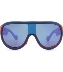 moncler moncler ml0106 blue & red sunglasses