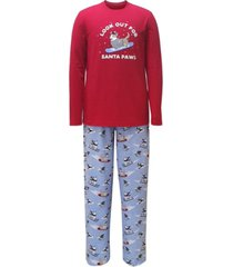 matching men's santa paws family pajama set, created for macy's