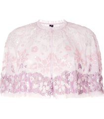 needle & thread sequin embellished cape - pink