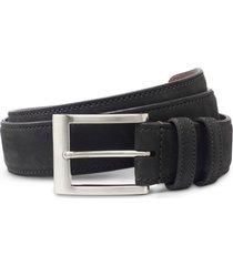 men's allen edmonds wide leather belt, size 42 - olive