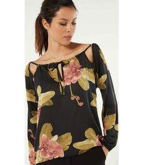 maglia manica lunga in raso viscosa dark orchid
