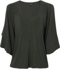 blusa le lis blanc ariel i malha verde feminina (riad, gg)