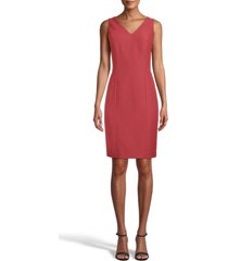 women's anne klein ridge crest sleeveless sheath dress, size 6 - orange