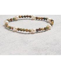 bransoletka - turkus & perły