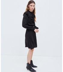 motivi vestito stile western donna nero