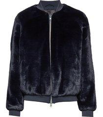 a.j fur outerwear faux fur blauw brixtol textiles