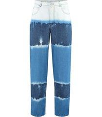 alberta ferretti 5-pocket loose-fit jeans