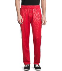 fila men's reggie logo track pants - red - size xxl