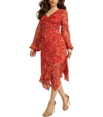 guess seraphina floral midi dress