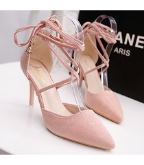 ps377 cutie pointy gladitor pointy pump, high heels  us size 4-8.5, pink