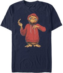 e.t. the extra-terrestrial men's alien in a hoodie short sleeve t-shirt