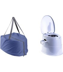 playberg camping and hiking folding portable travel toilet with travel bag