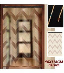 90 * 175cm 31line madera pantalla cortina del grano de la mosca porche dormitorio salón baño - marrón